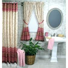 amazing fabric shower curtains with matching window shower curtains with window curtains to match great