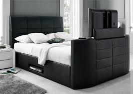 York Leather Black TV Bed ...