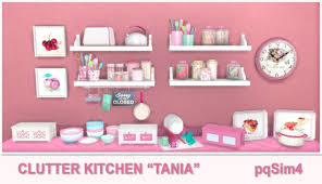 Lana CC Finds — Sims 4. Tania Kitchen Clutter by pqSim4...   Sims 4, Sims 4  kitchen, Sims 4 cc furniture