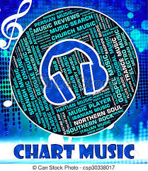 20 Chart Music Music Charts Represents Top Twenty And Harmonies