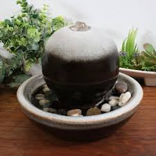 Fountain Water Feature Design Sunnydaze Ceramic Tabletop Water Fountain With Modern Orb