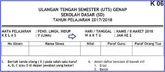 Maybe you would like to learn more about one of these? Soal Uts 2 Plh Kelas 5 Sd Terbaru Dan Kunci Jawaban