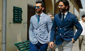 typically associated with slimming for the larger gent vertical stripes are the shorter guy s print too unlike horizontal stripes which flatten or