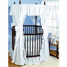 Amazon.com : Baby Doll Bedding Carnation Eyelet Round Crib Bedding Set,  White : Baby