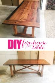 DIY Farmhouse Table - with tips from Grandy