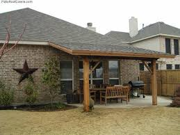 covered patio attached to 2 story home
