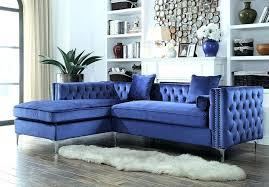 leather tuxedo style sofa blue velvet tufted navy
