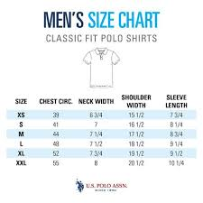 Us Polo Assn Size Chart Size Guide Mens Polo Shirts U S Polo Assn