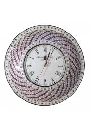 decors purple silver hanging wall clock