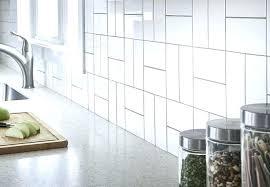 kitchen subway tile tiles white grout color backsplash sheets
