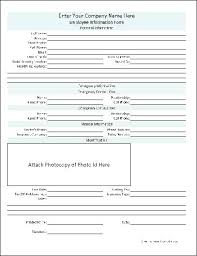 Employee Hire Forms New Hire Forms Template Employee Form Hiring Information