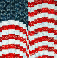 Quilt Inspiration: Free pattern day: Patriotic and flag quilts & American Beauty quilt, free pattern by Leslie Sonkin for Windham Fabrics Adamdwight.com