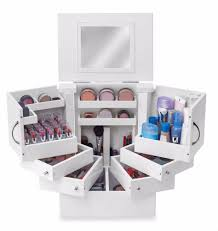 Lori Greiner Deluxe Cosmetic Organizer Makeup Box Stores Up To 200 Items  White | eBay