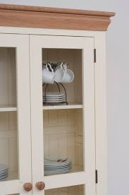 Oak Furniture Land Bedroom Furniture Country Cottage Painted Funiture Cabinet Cream Display Cabinet