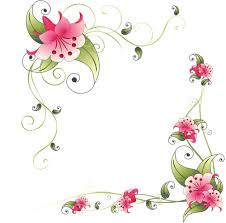 Small Picture Flower corner design page borders Pinterest Flower