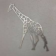 >giraffe metal wall art plasma cut skilwerx mystical modern safari  image is loading giraffe metal wall art plasma cut skilwerx mystical