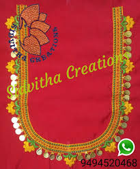 Machine Embroidery Jewelry Designs Sidvithacreations 9494520468 Hand Embroidery Designs