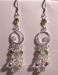 ana verde chandelier swarovski earrings 2007