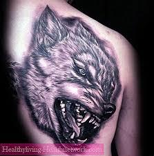 Vlčí Tetování Na Hrudi Typy A Význam Vlk Grin Tetování Péče O