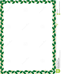 Green Border With Flowers Vector Stock Vector Illustration
