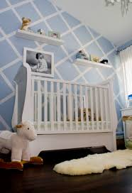 baby blue with stenciled accent wall project nursery