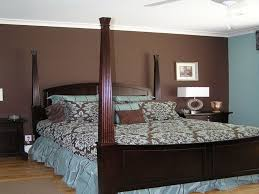 brown accent wall master bedroom