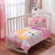 details about 100 organic cotton pisi cat soft and healthy baby crib bed duvet cover set 4pcs