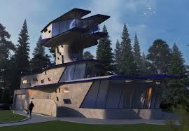 Экстерьер Курсовой проект Малоэтажный жилой дом в стиле Авангард  3d визуализация проекта Курсовой проект Малоэтажный жилой дом в 3d max рендер corona
