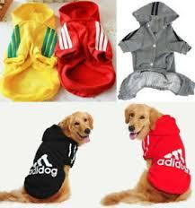 Details About Adidog Small Large Puppy Pet Dog Cat Clothes Jacket Hoodie Vest Shirt Jumpsuit