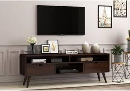 Buy Lynton Large Tv Unit (Walnut Finish) Online in India - Wooden Street