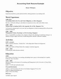 Accounts Payable Resume Objective Unique Accounting Resume Objective