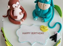 Monkey Birthday Cake With Name Editor 2happybirthday