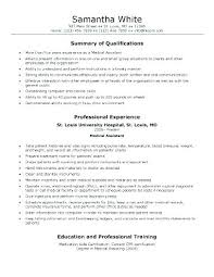 Resume Samples Objective Summary