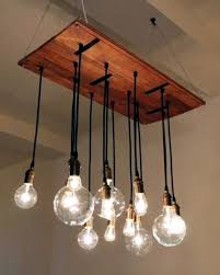 bouquet of bulbs diy chandelier from euro pallets brighten your home