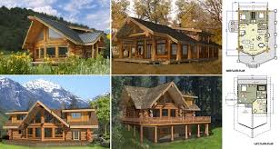 log cabin floor plans. Log Home And Cabin Floor Plans Between 1500-3000 Square Feet A