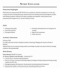 Nurse Educator Resume Nurse Educator Resume Sample Nursing Resumes Livecareer