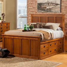 Oak Bedroom Sets King Size Beds King Size Bed Frame With Drawers Aspenhome Cambridge Queen