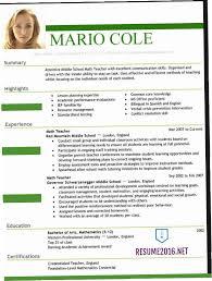 Resume Examples 2016 Gorgeous Good Resume Examples 60 DUTV