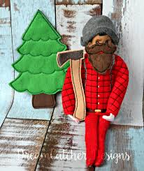 Dream Catcher Dolls ITH Small DollElf Lumberjack Holiday Bundle Embroidery Design 100 49