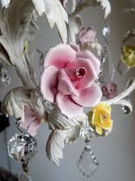 italian vintage tole chandelier with porcelain flowers lightbox lightbox lightbox