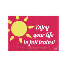 Denglish Sprüche Postkarten Full Trains