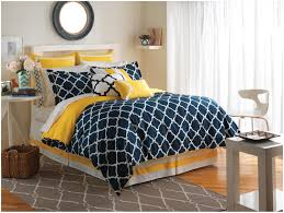 navy blue and white bedding navy and white w yellow comforter set