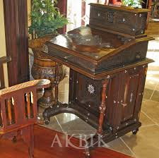 d070 secretary desk inlaid with mother of pearl