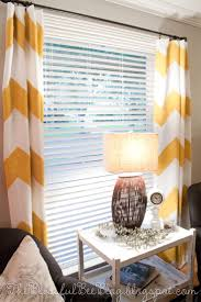 DIY Painted Chevron Curtains - 2