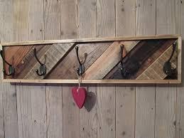 Reclaimed Wood Wall Coat Rack Pallet coat rack pallet furniturereclaimed wood coat rack rustic 33