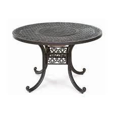 athena patio dining table with fire pit