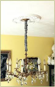 chandeliers white silk chandelier chain cover in cord design 11