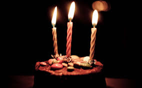 Chocolate Birthday Cake And Candles Hd Hd Birthday Wallpapers For
