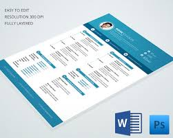 Premium Resume Templates Extraordinary 28 Creative Resume Templates Free PSD EPS Format Download Free