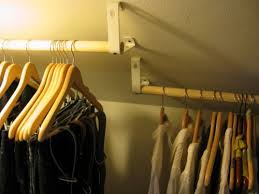 install a closet rod on an angled wall